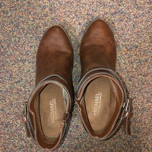 Brown Michael Shannon booties!!